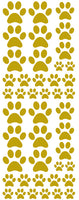 GOLD PAW PRINT DECALS