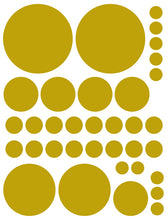 Load image into Gallery viewer, GOLD POLKA DOT WALL DECALS