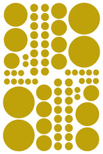 Load image into Gallery viewer, GOLD POLKA DOT DECALS