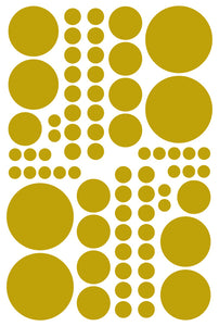 GOLD POLKA DOT DECALS