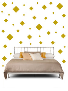 SQUARE WALL STICKERS IN GOLD