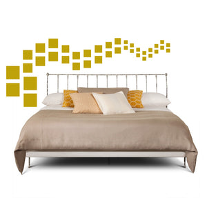 SQUARE WALL DECALS IN GOLD