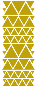 GOLD TRIANGLE STICKERS
