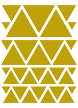 Load image into Gallery viewer, GOLD TRIANGLE WALL DECALS