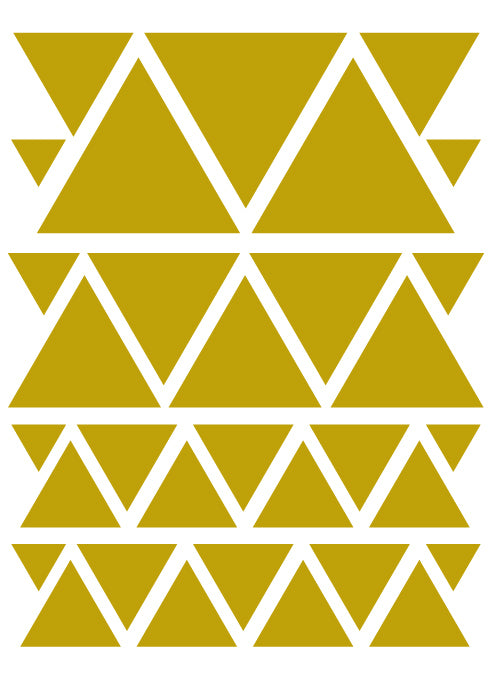 GOLD TRIANGLE WALL DECALS