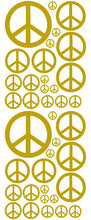 Load image into Gallery viewer, GOLD PEACE SIGN DECAL