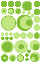 Load image into Gallery viewer, GREEN POLKA DOT WALL DECALS