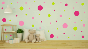 PINK AND GREEN WALL STICKERS