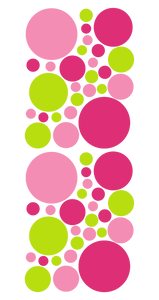 PINK AND GREEN WALL DECALS
