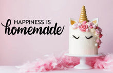 Load image into Gallery viewer, HAPPINESS IS HOMEMADE WALL STICKER