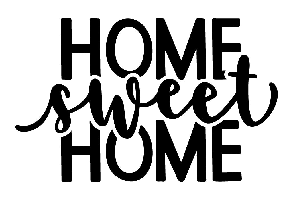 Home sweet home wall sticker from whimsidecals.com