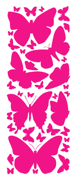 HOT PINK BUTTERFLY WALL DECALS