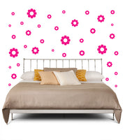 HOT PINK DAISY DECALS