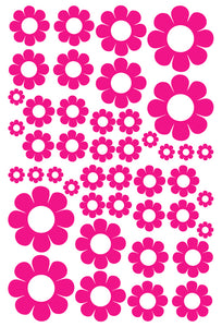 HOT PINK DAISY STICKERS