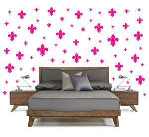 HOT PINK FLEUR DE LIS WALL DECOR