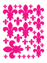 Load image into Gallery viewer, HOT PINK FLEUR DE LIS WALL DECALS