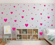 Load image into Gallery viewer, HOT PINK HEART STICKERS