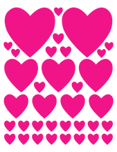 Load image into Gallery viewer, HOT PINK HEART WALL DECALS