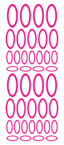 HOT PINK OVAL WALL STICKERS