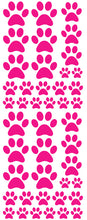 Load image into Gallery viewer, HOT PINK PAW PRINT DECALS