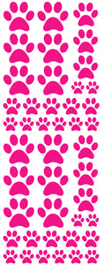 HOT PINK PAW PRINT DECALS
