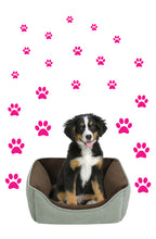 Load image into Gallery viewer, HOT PINK PAW PRINT STICKERS