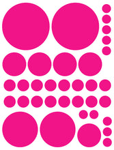 Load image into Gallery viewer, HOT PINK POLKA DOT WALL DECALS