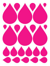Load image into Gallery viewer, HOT PINK RAINDROP WALL DECALS