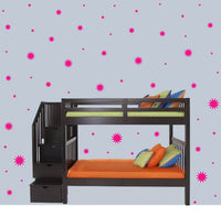 HOT PINK STARBURST WALL GRAPHICS