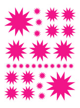 Load image into Gallery viewer, HOT PINK STARBURST WALL DECALS
