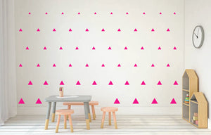 HOT PINK TRIANGLE DECALS