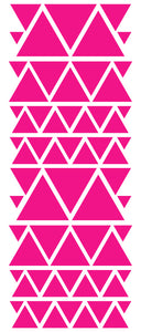HOT PINK TRIANGLE STICKERS