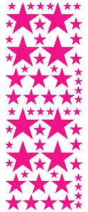 HOT PINK STAR DECALS