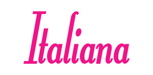 ITALIANA WORD WALL DECAL IN HOT PINK