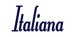 ITALIANA WORD WALL DECAL IN NAVY BLUE