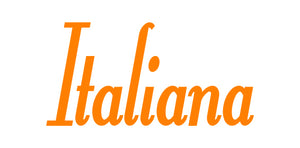 ITALIANA WORD WALL DECAL IN ORANGE