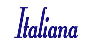 ITALIANA WORD WALL DECAL IN ROYAL BLUE