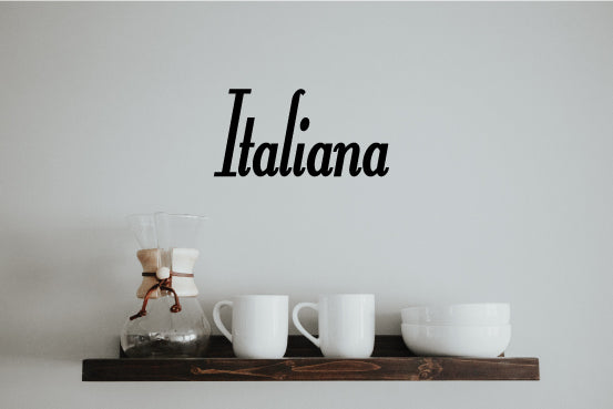 ITALIANA WORD WALL DECAL