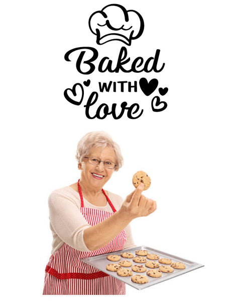 BAKED WITH LOVE KITCHEN WALL DECAL