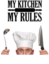Load image into Gallery viewer, MY KITCHEN MY RULES WALL DECAL