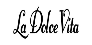 LA DOLCE VITA ITALIAN WORD WALL DECAL IN BLACK
