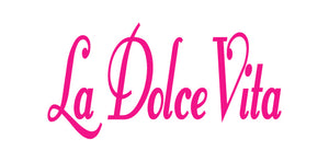 LA DOLCE VITA ITALIAN WORD WALL DECAL IN HOT PINK