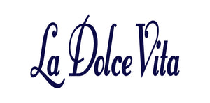 LA DOLCE VITA ITALIAN WORD WALL DECAL IN NAVY BLUE