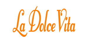 LA DOLCE VITA ITALIAN WORD WALL DECAL IN ORANGE