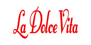 LA DOLCE VITA ITALIAN WORD WALL DECAL IN RED