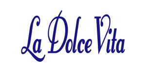 LA DOLCE VITA ITALIAN WORD WALL DECAL IN ROYAL BLUE
