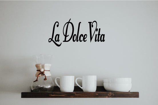 LA DOLCE VITA ITALIAN WORD WALL DECAL