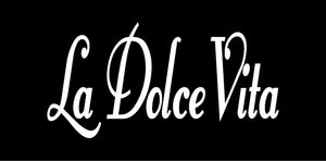 LA DOLCE VITA ITALIAN WORD WALL DECAL IN WHITE