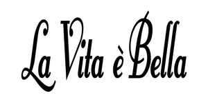 LA VITA E BELLA ITALIAN WORD WALL DECAL IN BLACK