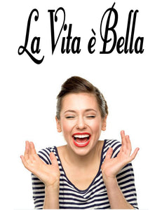 LA VITA E BELLA ITALIAN WORD WALL DECAL